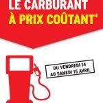 Carburant à prix coûtant du 14 au 15 avril 2017 @intermarche
