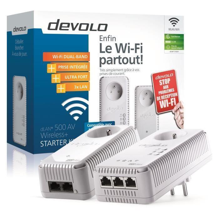 Pack de 2 CPL avec WIFI intégré, 3 ports ethernet 59,99 € @Cdiscount