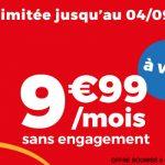 Forfait mobile Auchan Telecom 9,99 € par mois à vie sans engagement