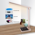 Lampe de Bureau WiFi,FamBrow Lampe de Table Soutenir Le Contrôle de La Voix,Contrôle Intelligent WIFI,Chargement Sans Fil de Téléphone Portable,Lampe de Enfant Design Avec Port de Charge USB
