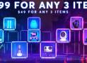 3 produits à 9,99 $ – ou 3 produits à 49 $