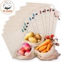 Lot de 10 sacs réutilisables en maille de coton biologique lavables Kupton