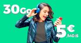 Forfait mobile SFR RED 30 GO 5 € par mois à vie sans engagement