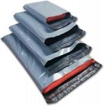 Lot de 100 sacs d'expédition en plastique Gris