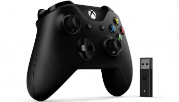 Microsoft Manette Xbox One + Adaptateur sans fil pour Windows 10