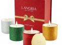 4 Bougies parfumées à paillettes aromathérapie