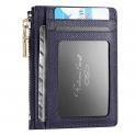 Portefeuille en Cuir bleu avec blocage RFID