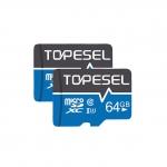Lot de 2 cartes mémoires MicroSDXC 64Go TOPESEL (Lecture jusqu'à 85 Mo/s)