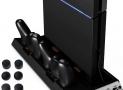 Station de rechargement verticale pour PS4 et 4 manettes