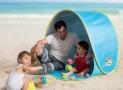 Tente de plage LUDI  avec protection UV 50 105 x 90 x 100 cm. Fournie avec 4 fixations au sol