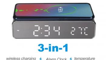 Nouveau réveil LED avec fonction recharge par induction pour smartphone