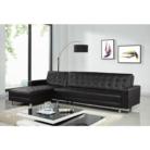 Canapé d'angle 5 places simili cuir réversible et convertible @Cdiscount