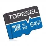 Carte Mémoire MicroSDXC 64Go TOPESEL